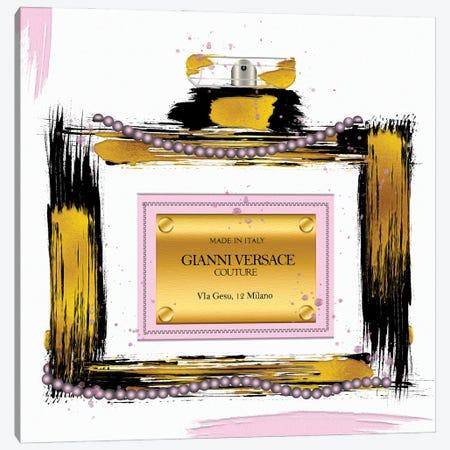 Gianni Couture Perfume Bottle Pink Canvas Print #POB632} by Pomaikai Barron Art Print