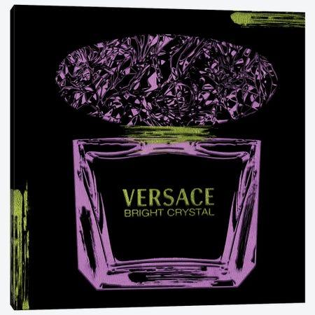 'Sace Bright Crystal Purple Perfume Bottle With Jade Accents Canvas Print #POB653} by Pomaikai Barron Canvas Print