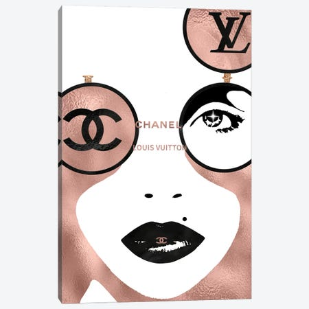 Dual Miss Fashion Face Canvas Print #POB67} by Pomaikai Barron Canvas Wall Art