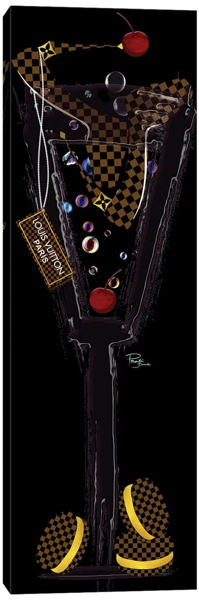 Champagne High Heels Macarons & Fashion Labels Brown Black Canvas Art Print
