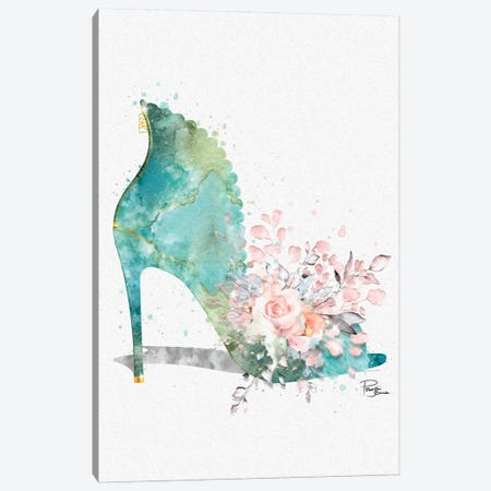 Dirty Bouquet Abstract Stiletto With Pink Roses Canvas Print #POB709} by Pomaikai Barron Canvas Art Print