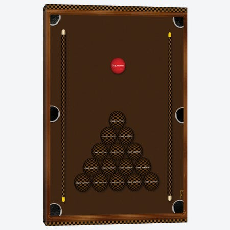 Ladies Night With Louis Brown & Black Checker Board Billiard Table Canvas Print #POB721} by Pomaikai Barron Canvas Art Print