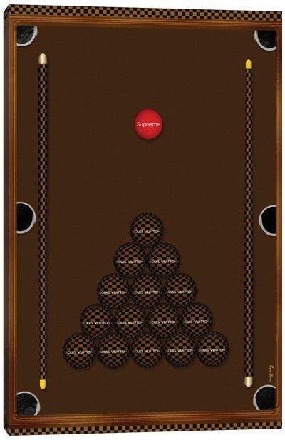 Ladies Night With Louis Brown & Black Checker Board Billiard Table Canvas Art Print
