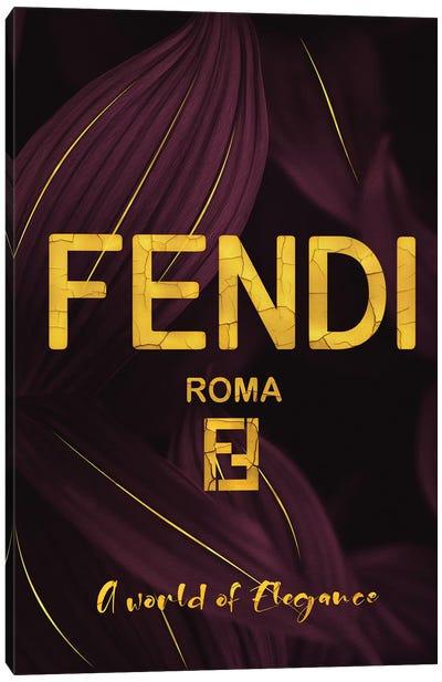 Fendi Roma A World Of Elegance Canvas Art Print