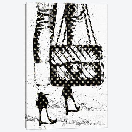 Black And White Abstract Fashion Illustration Canvas Print #POB7} by Pomaikai Barron Canvas Artwork