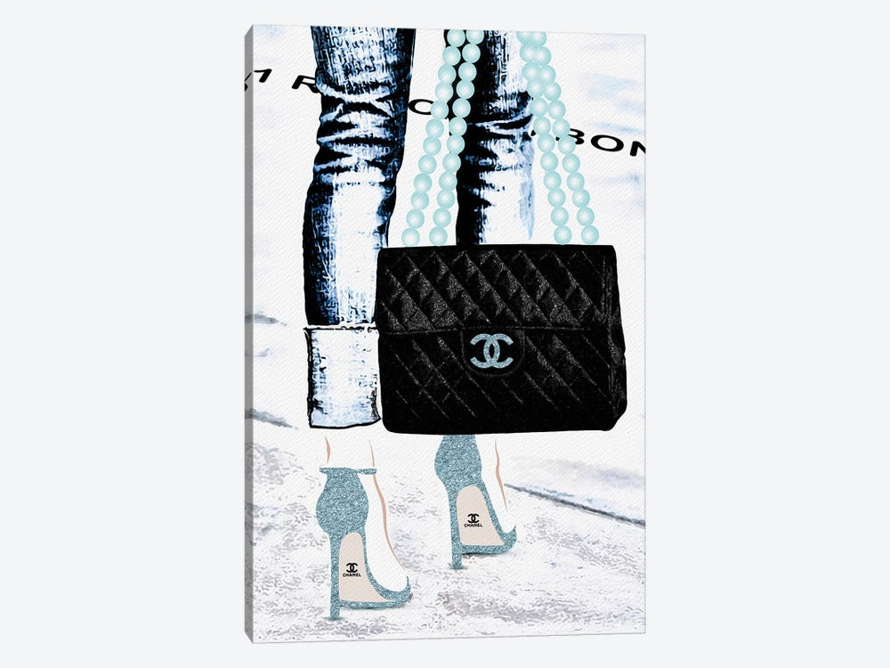 Lady With The Chanel Bag II by Pomaikai Barron 1-piece Canvas Art Print
