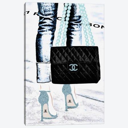 Lady With The Chanel Bag II Canvas Print #POB98} by Pomaikai Barron Canvas Artwork