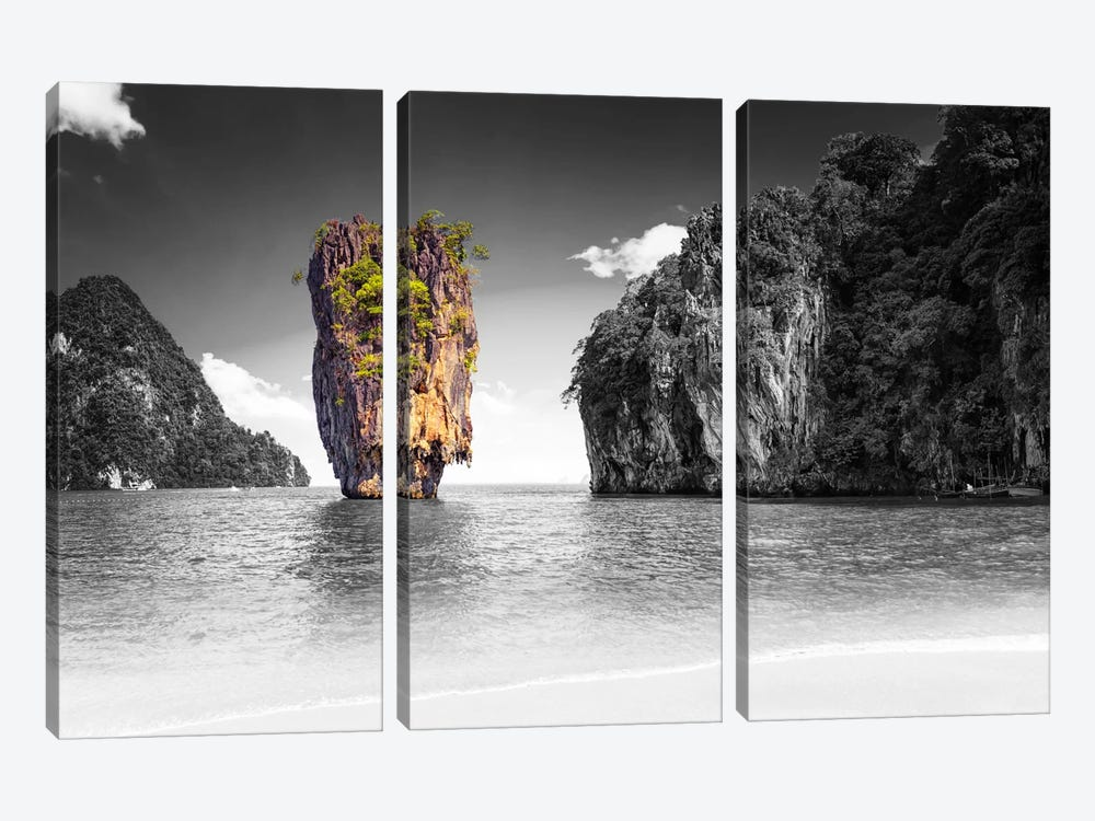 Summation Of Land by 5by5collective 3-piece Canvas Art Print