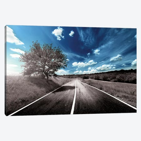 Clouds Approach Canvas Print #POC2} by 5by5collective Canvas Wall Art