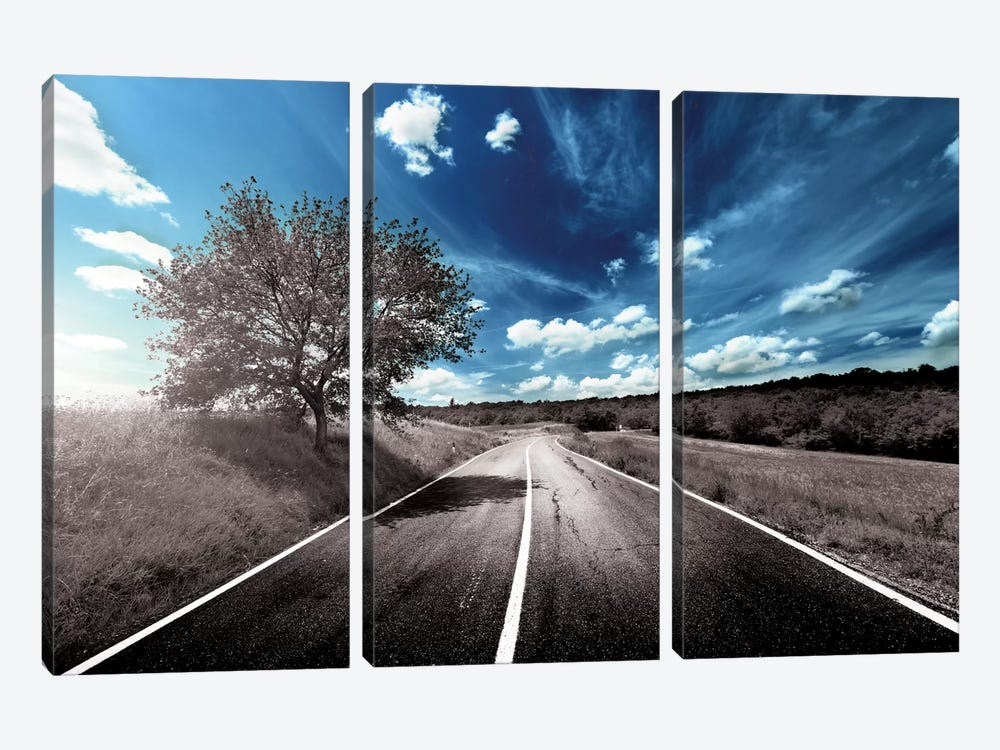 Clouds Approach 3-piece Canvas Art