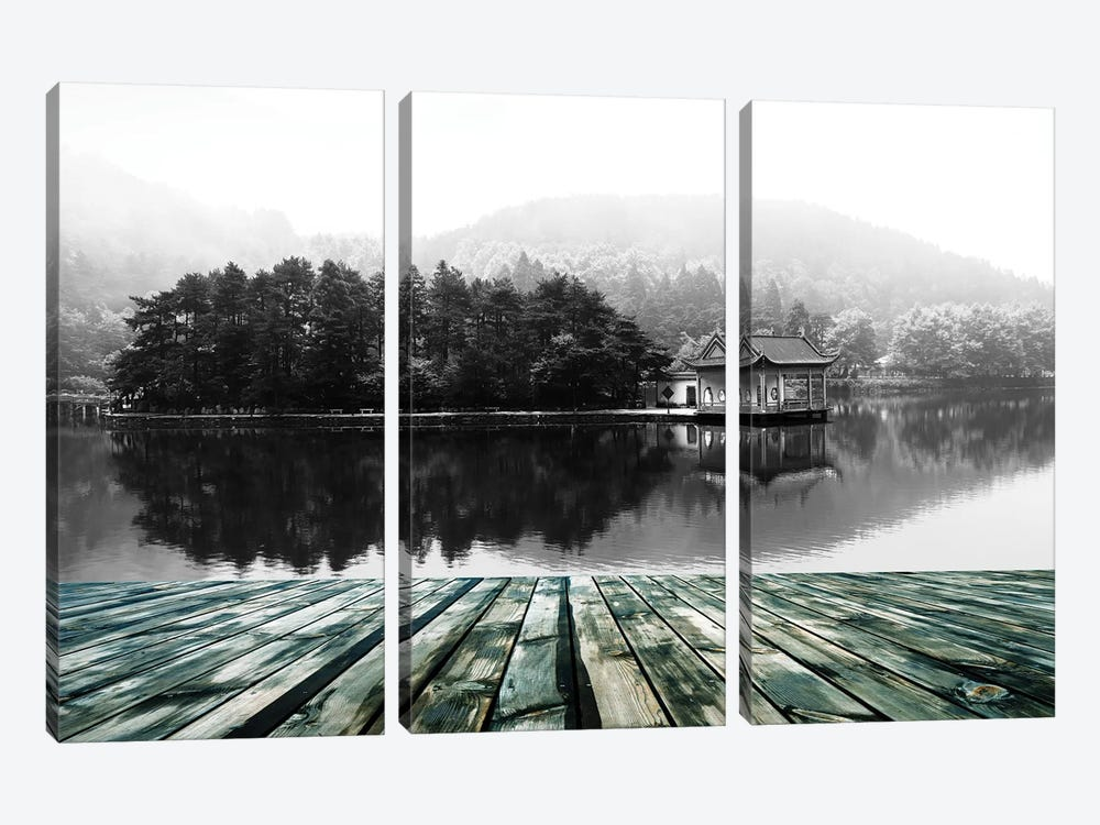 Feeling And Continuation by 5by5collective 3-piece Canvas Print