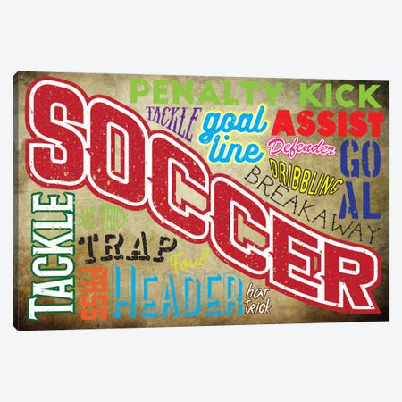 Soccer Slang Canvas Print #POG10} by 5by5collective Canvas Art Print