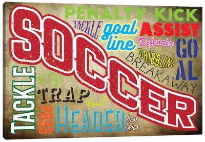Soccer Slang Canvas Art Print