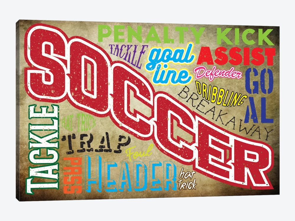 Soccer Slang by 5by5collective 1-piece Art Print