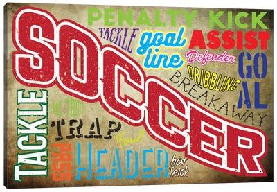 Soccer Slang Canvas Art Print