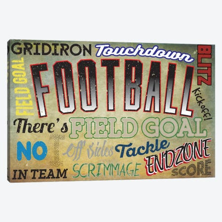 Sportsball Canvas Print #POG11} by 5by5collective Canvas Art Print