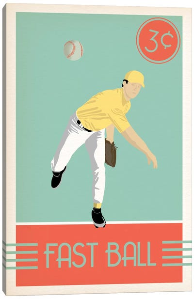 Fast Ball Canvas Art Print