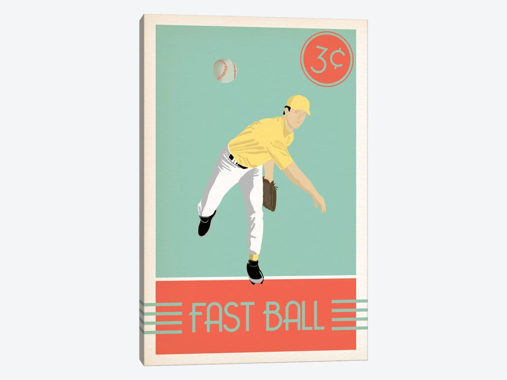 Fast Ball by 5by5collective 1-piece Canvas Art Print