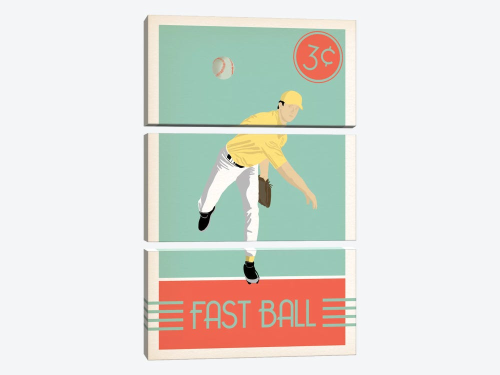 Fast Ball by 5by5collective 3-piece Art Print