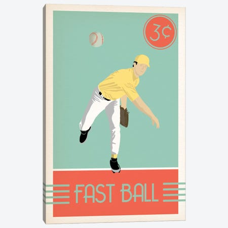 Fast Ball Canvas Print #POG14} by 5by5collective Canvas Wall Art