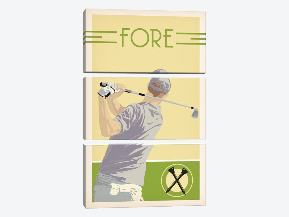 Fore by 5by5collective 3-piece Canvas Artwork