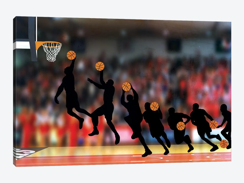 Mechanics of a Dunk by 5by5collective 1-piece Canvas Print