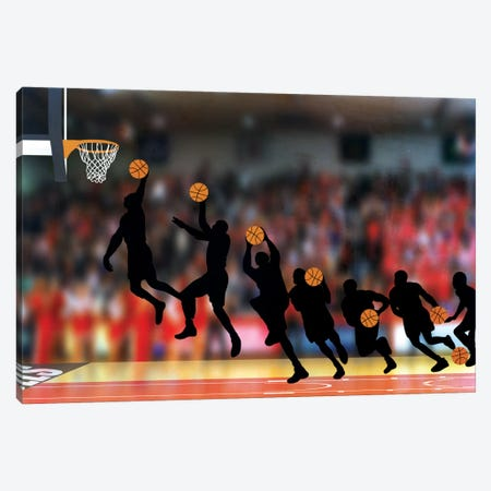 Mechanics of a Dunk Canvas Print #POG18} by 5by5collective Canvas Print