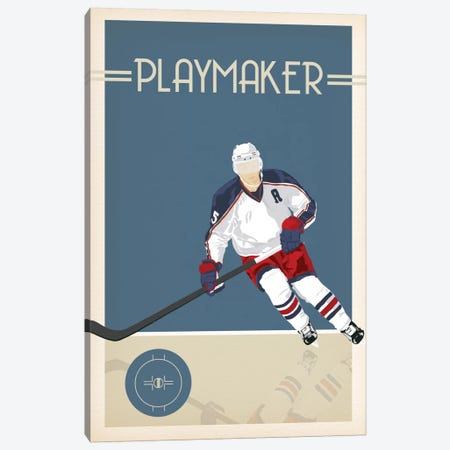 Playmaker Canvas Print #POG19} by 5by5collective Canvas Art Print