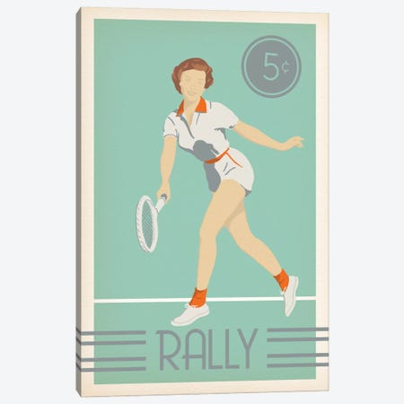 Rally Canvas Print #POG20} by 5by5collective Canvas Wall Art
