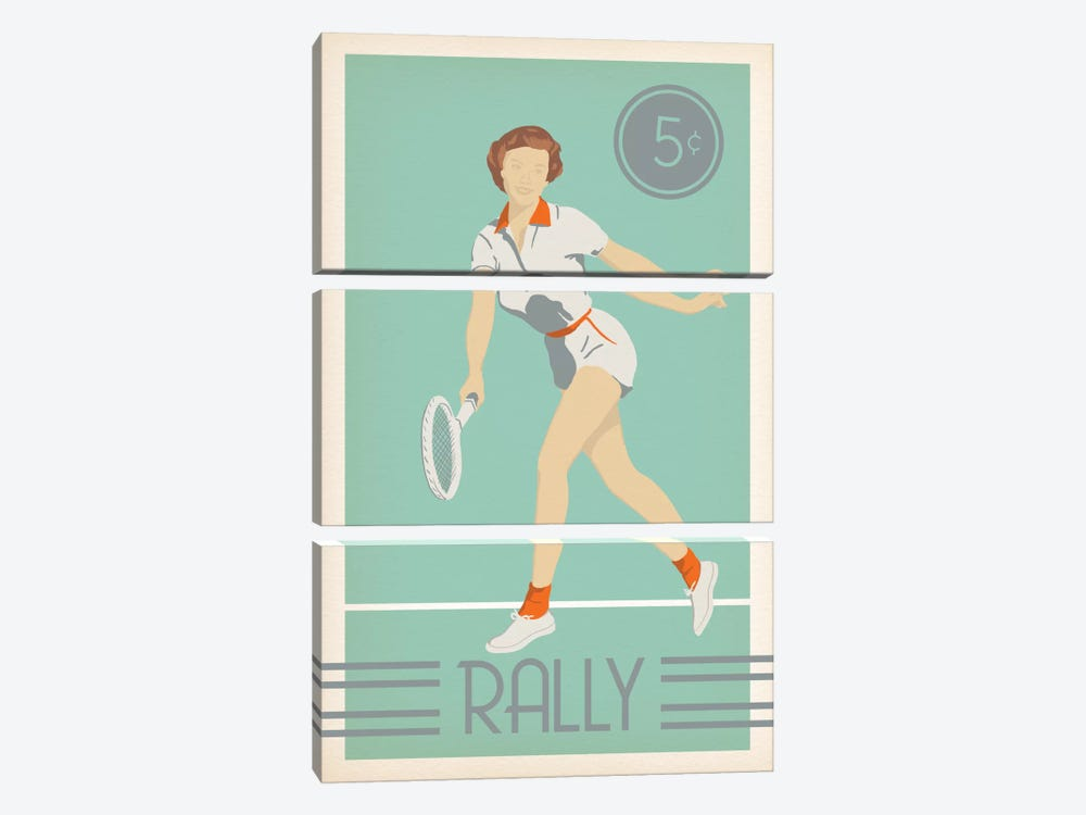 Rally by 5by5collective 3-piece Canvas Art