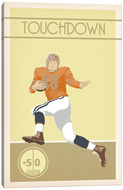 Touchdown Canvas Art Print