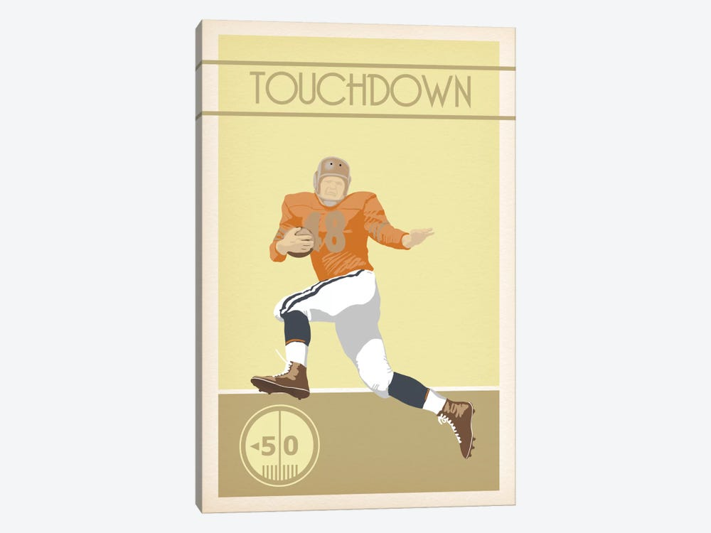 Touchdown by 5by5collective 1-piece Canvas Print