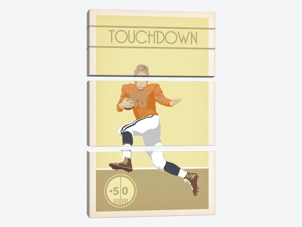 Touchdown by 5by5collective 3-piece Art Print