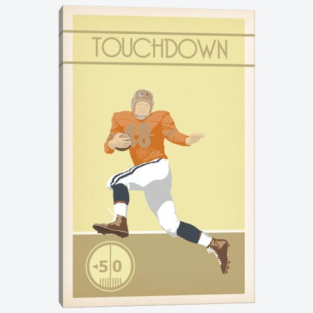 Touchdown Canvas Print #POG23} by 5by5collective Canvas Art