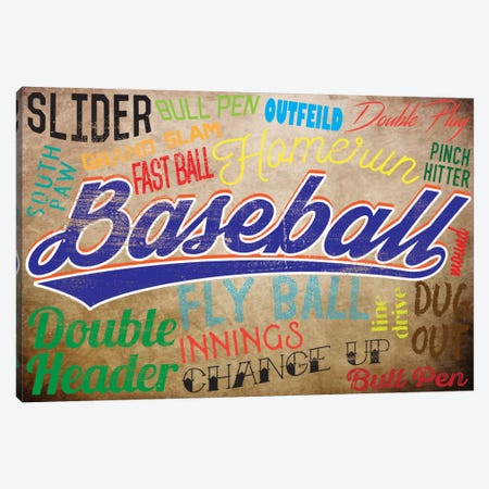 Baseball Slang Canvas Print #POG2} by 5by5collective Canvas Art