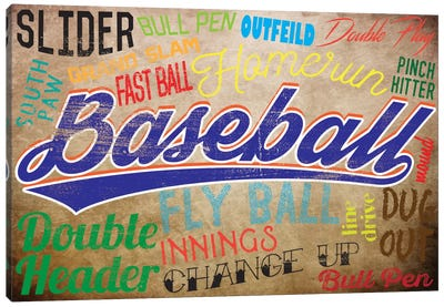 Baseball Slang Canvas Art Print
