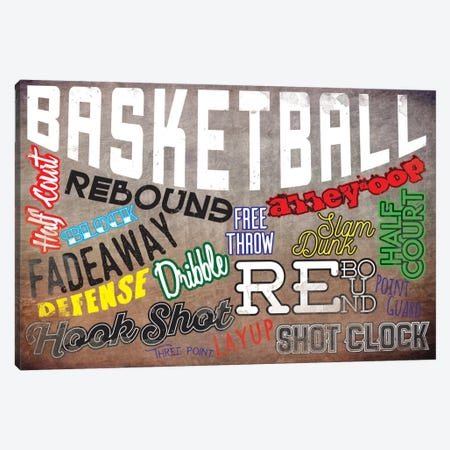 Basketball Slang Canvas Print #POG6} by 5by5collective Canvas Print