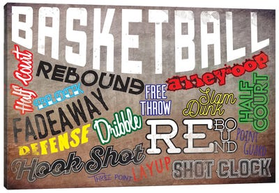 Basketball Slang Canvas Art Print