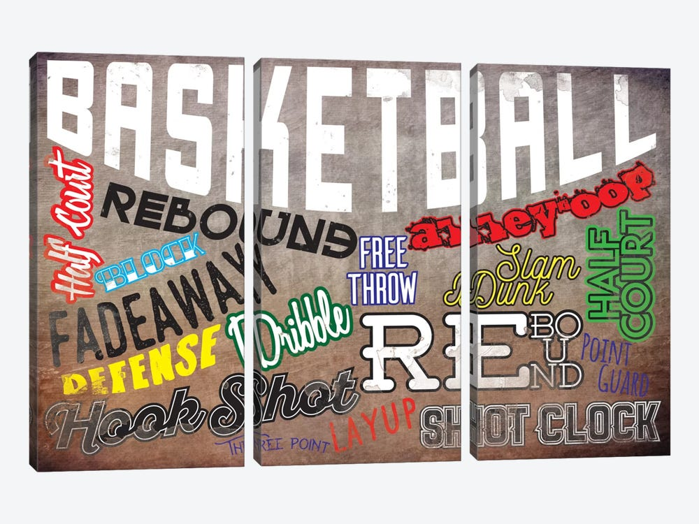Basketball Slang by 5by5collective 3-piece Canvas Artwork