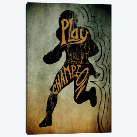 Play like a Champion Canvas Print #POG7} by 5by5collective Canvas Art Print