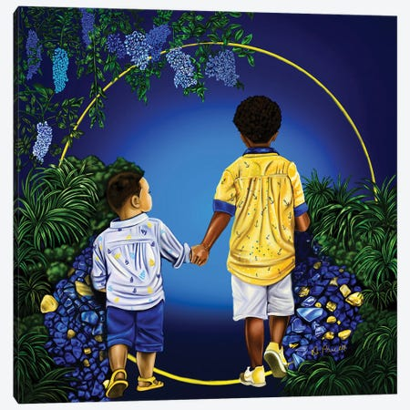 Journey With My Brother 3-Piece Canvas #POI21} by Poetically Illustrated Canvas Artwork