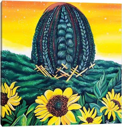 Warrioress Canvas Art Print