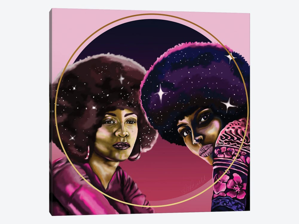 Angela And Assata by Poetically Illustrated 1-piece Canvas Artwork