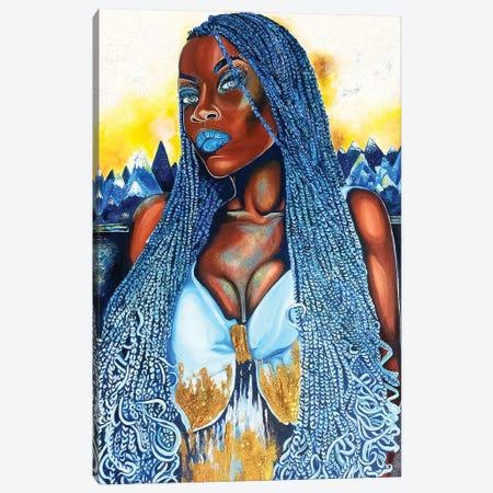 Yemaya Canvas Print #POI32} by Poetically Illustrated Canvas Art Print