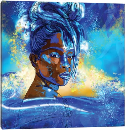 She Is Water Canvas Art Print