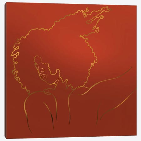 Detangle Canvas Print #POI48} by Poetically Illustrated Canvas Art