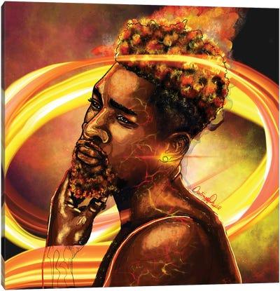 Man Of Fire Canvas Art Print
