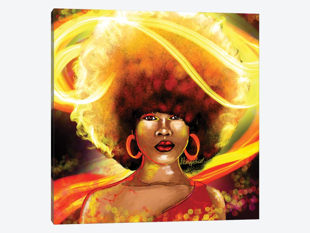 She Is Fire by Poetically Illustrated 1-piece Canvas Art