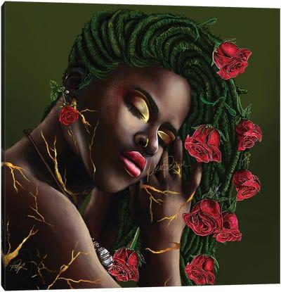 Concrete Rose Canvas Art Print