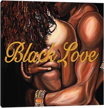 Black Love Canvas Art Print